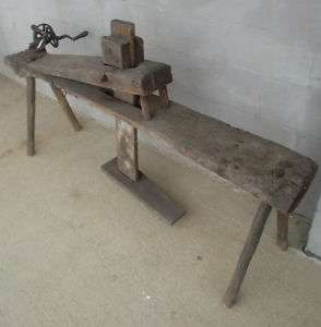 Antique Primitive Shaving Horse Bench Tool