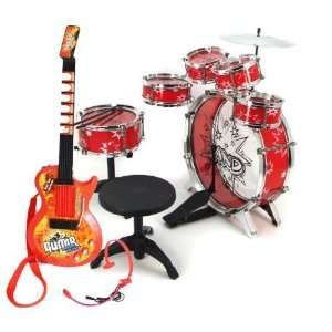 Sounds + 11pc Kids Boy Drum Set Musical Instrument Toy Playset Toys