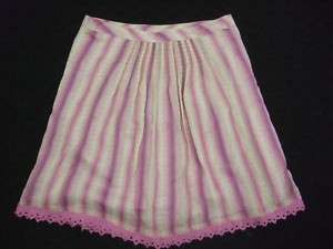 nwot Free People Anthropologie Striped Full Skirt sz 6
