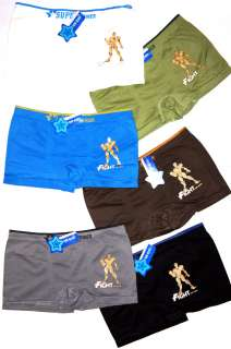 LOT 6 PAIRS BOYs shorts BOXERS BRIEFS underwear SEAMLESS super power
