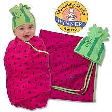Sozo Juicy Fruit Swaddle Blanket & Cap Set   Sozo   Babies R Us