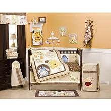 Kids Line Peekaboo Pooh 4 Piece Crib Bedding Set   Kids Line   Babies