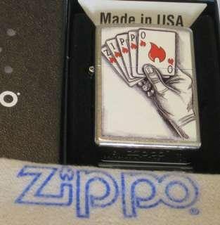 ZIPPO BARRETT SMYTHE Lighter Playing CARDS Mint/Box