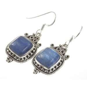 925 Sterling Silver NATURAL KYANITE Earrings, 1.38, 8.07g Jewelry
