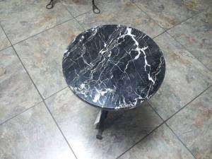 Marble Top Iron Base Plant Stand/End Table/ Accent Table