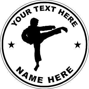 KARATE MARTIAL ARTS CAR VEHICLE MAGNET Personalized