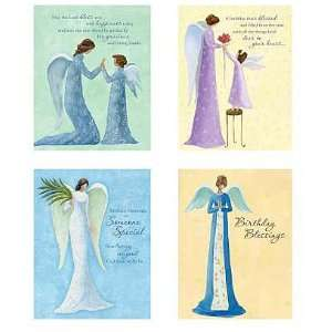 Tranquil Angels Birthday Cards 12pk: KJV Scripture