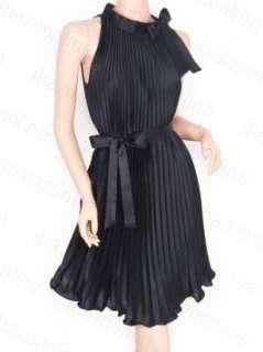 Free Postage Elegant Satin Pleated Belt Maternity Party Evening Dress