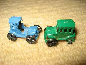 Vintage Micro MINI Diecast Metal MODEL T Cars Marked JAPAN  1