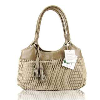Beige Perforaed Leaher Small Designer oe Purse 793573696908 |