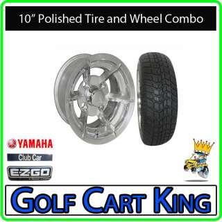 Richmond Low Profile Golf Cart 10 Wheel & Tire Combo