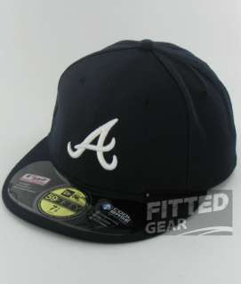 BRAVES A Logo ROAD New Era 59Fifty Fitted Official Players Hats Caps