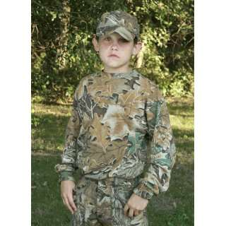 Childrens Long Sleeve Camouflage Shirt (Realtree Hardwoods,0 6M