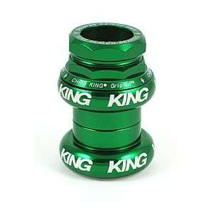 Chris King GripNut Headset 1 Inch BMX Green (Bright Silver Logo