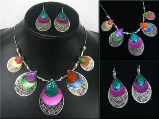 New in Fashion Style Silver Plated Charming Enamel Pendant Necklace