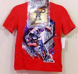Tee Shirt & Toy Keychain Gift Set Transformers Optimus Prime M
