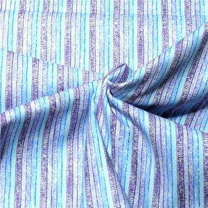 RJR Cotton Fabric Cute Crackle Blue & Purple Stripe By the Yard
