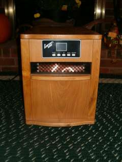 COMFORT ZONE 1500 INFRARED QUARTZ HEATER OAK W REMOTE