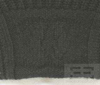 Chanel Identification Black Cashmere Monogram Knit Beanie Hat