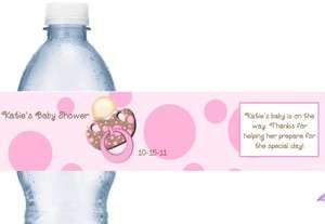 Personalized Baby Shower Water Labels Set of 21