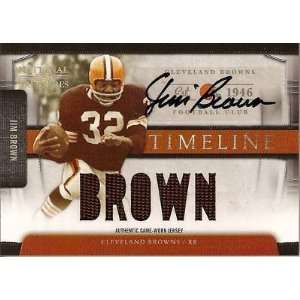 Playoff JIM BROWN National Treasures Jersey Auto