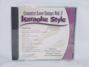 Country Gospel Love Songs V2 Christian Karaoke NEW CD+G