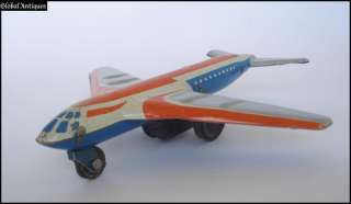 1970s VINTAGE CHILD TIN FRICTION TOY   AIRPLANE