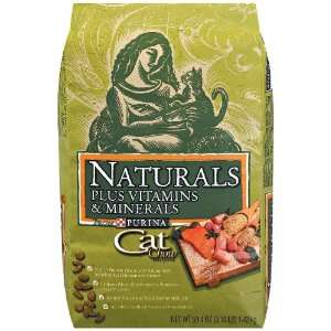 Purina Cat Chow Cat Food, Naturals plus Vitamins & Minerals, 3.15 lbs