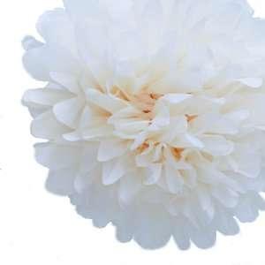 Dress My Cupcake Mini 5 Ivory Cream Tissue Paper Pom Poms