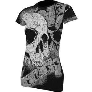 FMF Apparel Womens Rocker T Shirt   Large/Black