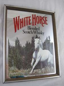 White Horse Blended Scotch Whisky Beer Mirror Sign Wall Hanging