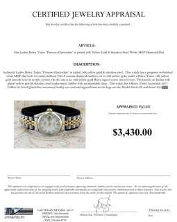 ROLEX TUDOR 18K/STAINLESS STEEL WHITE MOP DIAMOND DIAL WATCH