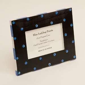 Black and Blue Polka Dot Picture Frame Baby
