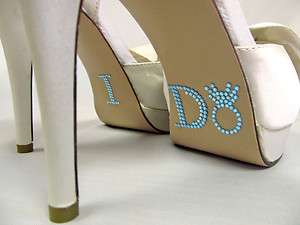 Crystal I DO Shoe Stickers for Bridal Shoes Rhinestone Shoe Decals