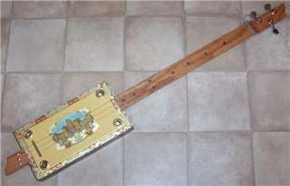 String Casa Royale Cigar Box Slide Guitar #406