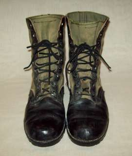 ORIGINAL VTG 1960s VIETNAM WAR SIZE 9R ARMY COMBAT JUNGLE WORK BOOTS