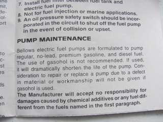 62 64 65 66 Ford F100 MGB MG Triumph Carb New Fuel Pump BELLOWS TYPE