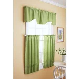 Better Homes & Gardens Checks + Solid Window Set Green