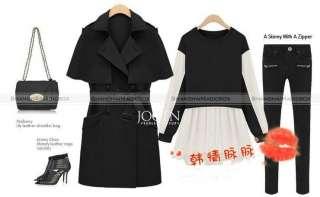 Women Fashion Vintage Sweet OL Trench Coat Cape Cloak Jacket Outwear