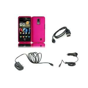 LG Spectrum (Verizon) Premium Combo Pack   Hot Pink Hard