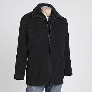 Mens Wool Blend Jacket with Bib Collar  Covington Clothing Mens