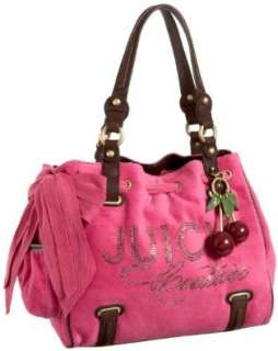 Juicy Couture Velour Rhinestone Heart Charm Daydreamer Bag