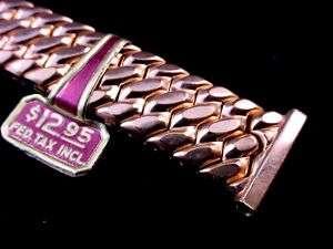 1940s Speidel Golden Templar watch band Pink Gold Fill