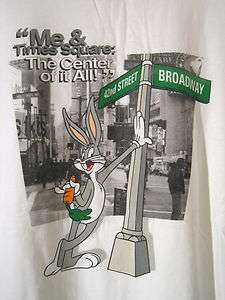 Times Square NY Mens T shirt XXL White Bugs Bunny Looney Tunes 42 St