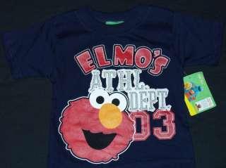 SESAME STREET ELMO Toddlers Navy T shirt NWT $18 CUTE