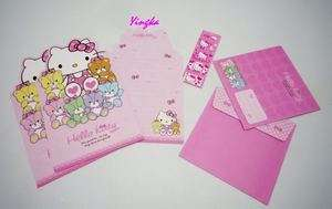 HELLO KITTY Letter Set with Envelope Stationery # Bear 070137