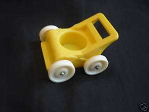Fisher Price Little People Vintage Baby Yellow Stroller