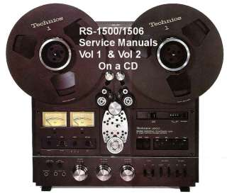 TECHNICS RS 1500 /RS1506US SERVICE MANUAL VOL 1 & 2 CD