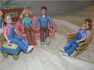 Fisher Price Loving Family Furniture and Figures/ People Lot