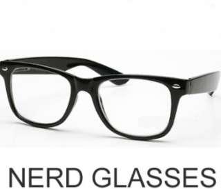 New Large 50s Wayfarer Nerd Clear Thick Frame GLASSES
